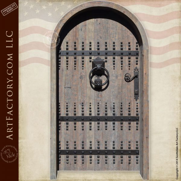 arched castle door