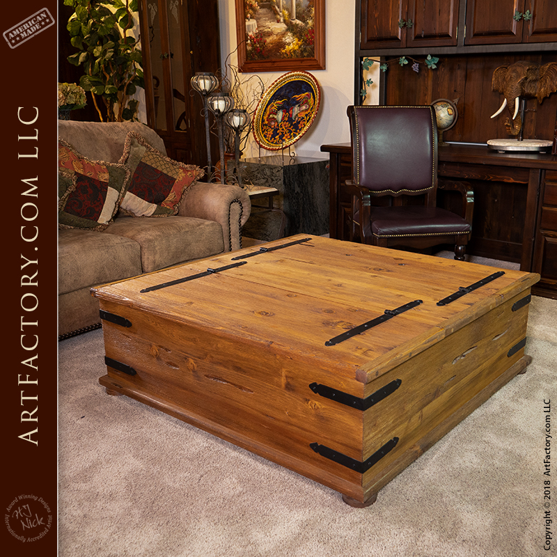 Spanish Style Chest Coffee Table