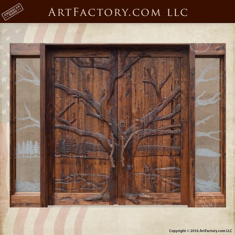 Oak Tree Hand Carved Grand Entrance