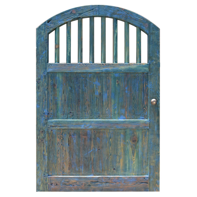 Top 40 Best Wooden Gate Ideas: Arch Top Wood Spingle Fence Gates