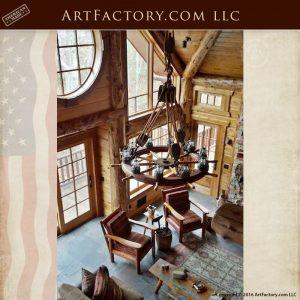 nautical ship wheel chandelier