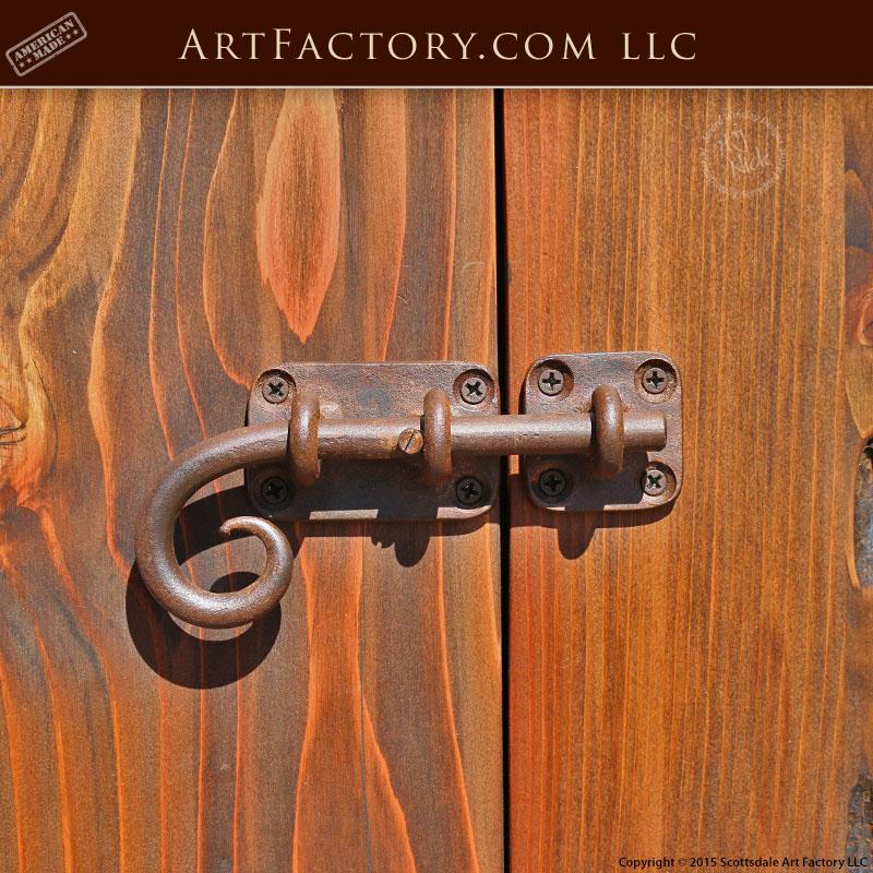 Custom Hand Forged Slide Bolt: Custom Wrought Iron Door Hardware U2013 HH420