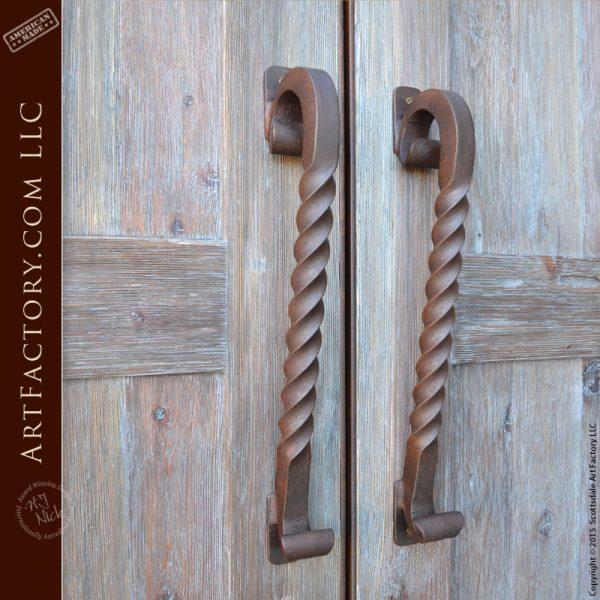 wrought iron twist door handles