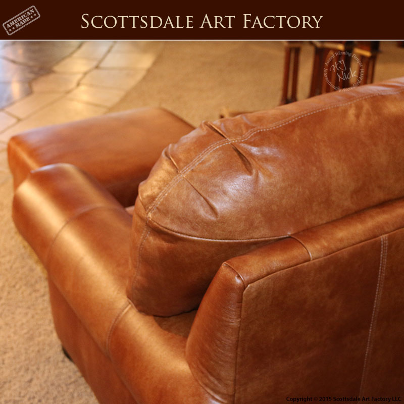 Leather Chair With Ottoman Custom Full Grain Leather