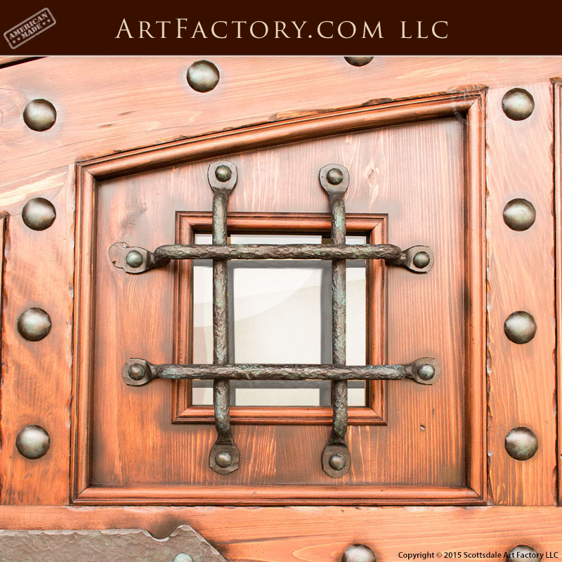 Custom Security Door Grill: Fine Art Quality Hand Forged