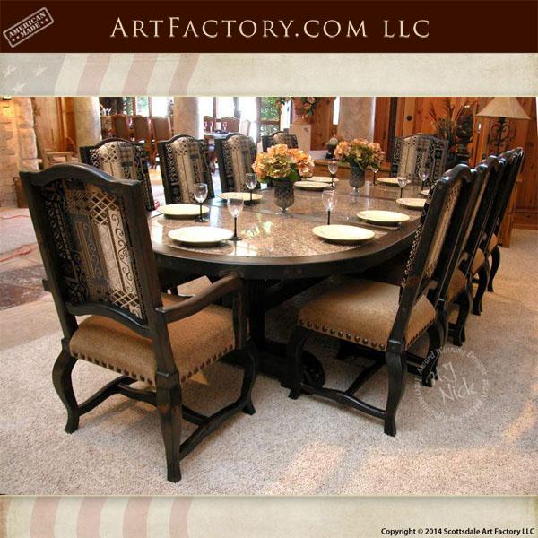 custom oval dining table