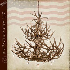 elegant antler chandelier