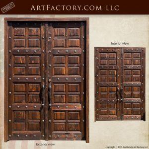 matching multi panel wood doors