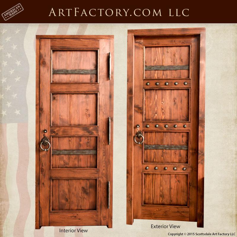 rustic custom front door