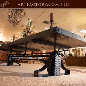 custom industrial crank table