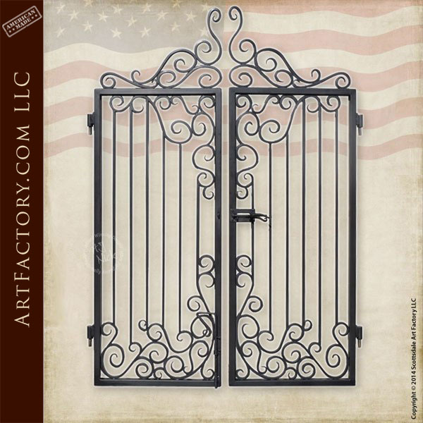 Custom Iron Entrance Gate Decorative Hand Forged Security