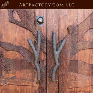winter tree hand carved doors
