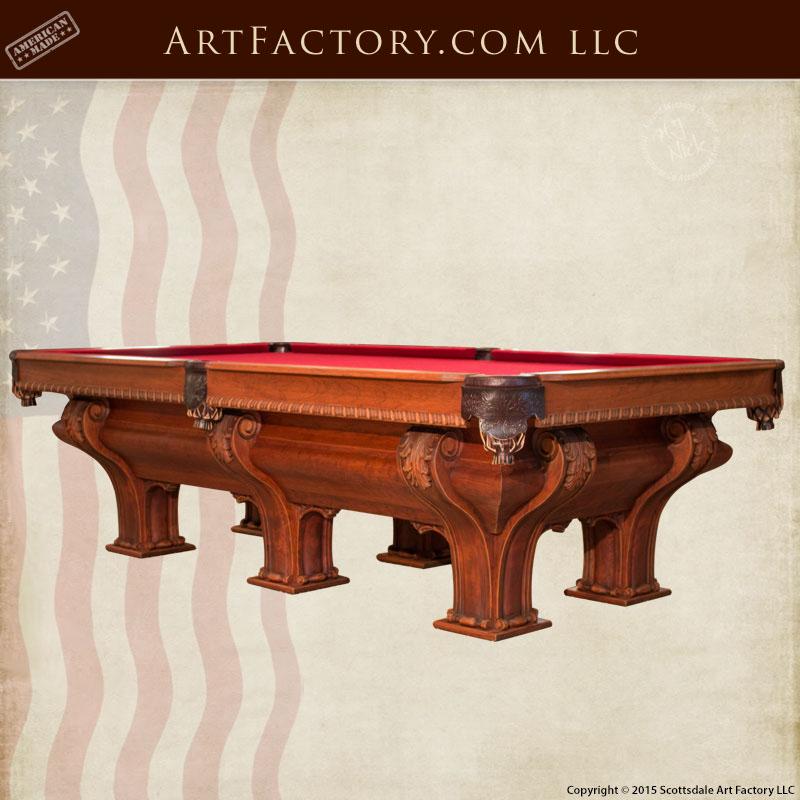 F.X. Gantner inspired custom pool table