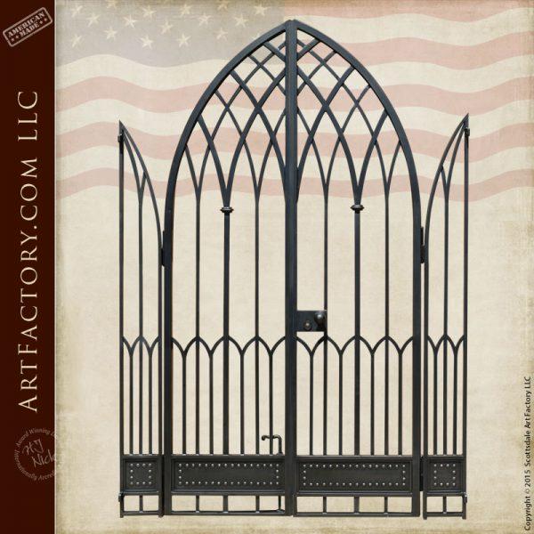 gothic style iron gate