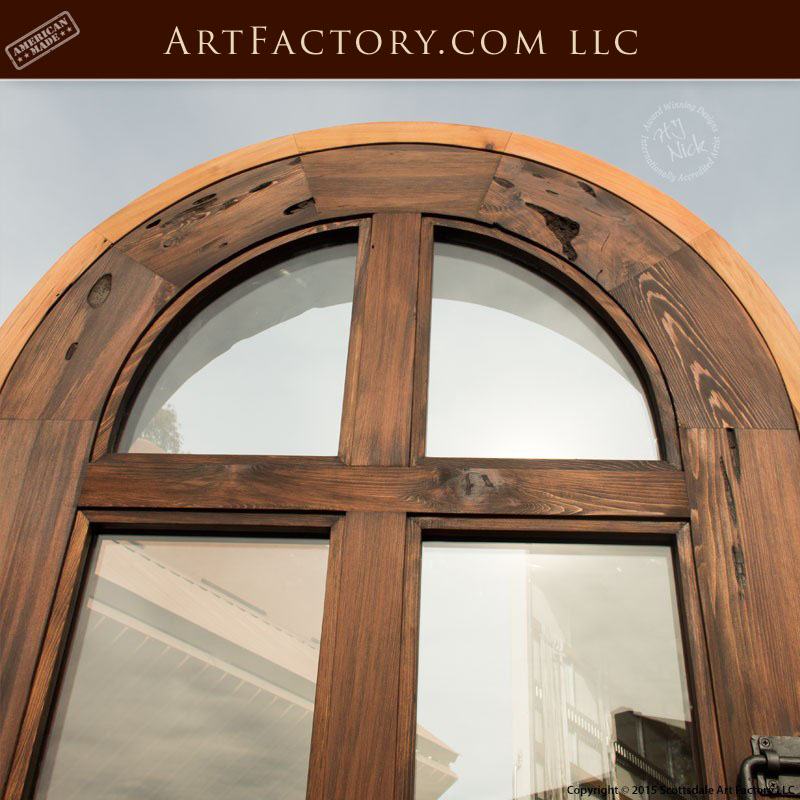 Custom Arched French Door Handmade With Thick Solid Wood