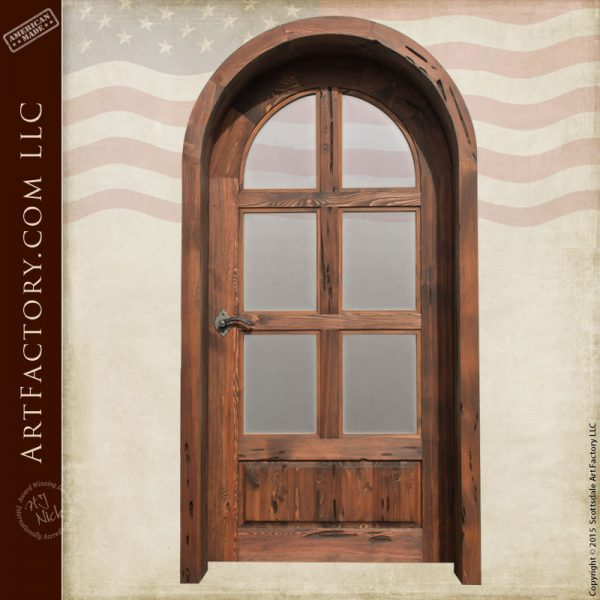 custom arched French door