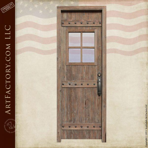 custom rustic wooden door