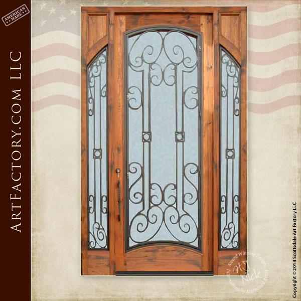 custom fine art entrance door