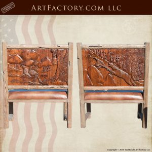 hand carved dining benches