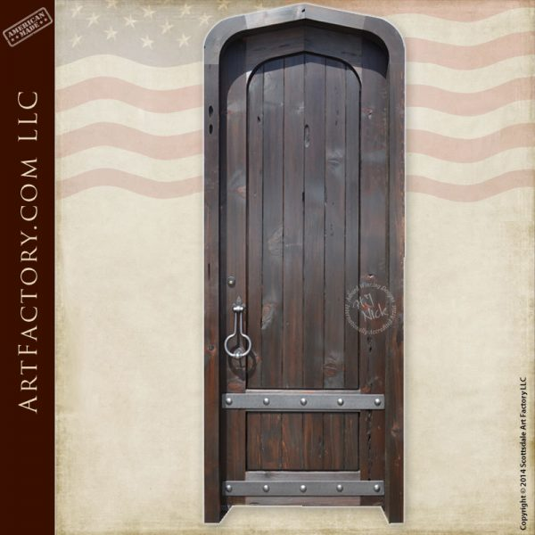 wooden cathedral entrance door