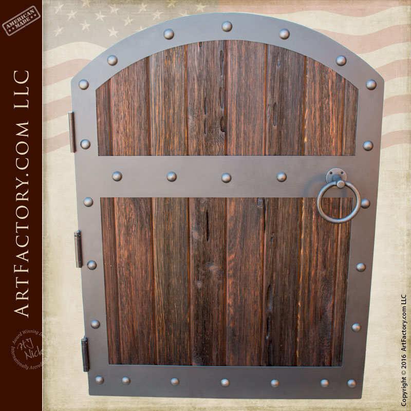 Wood Gates Fortified Medieval Raised Grain Custom Castle