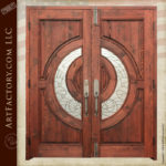 stained glass entry double doors