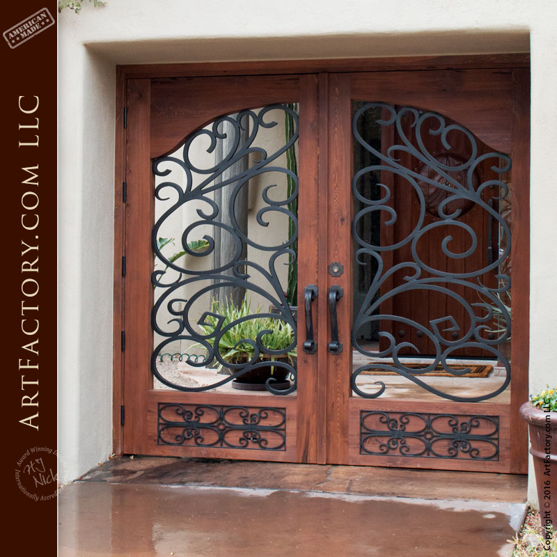 Renaissance Style Entrance Gate Wrought Iron Amp Solid Wood