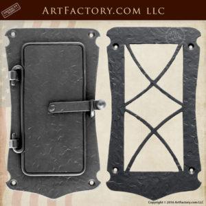 Hand Textured Medieval Speakeasy Door Viewer