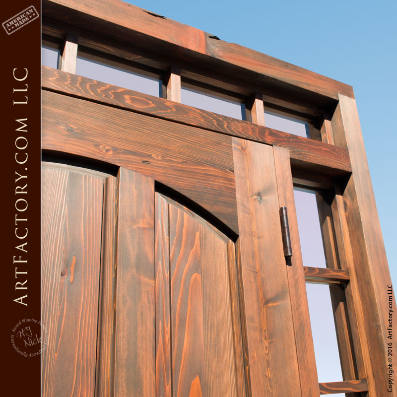 Simple Front Doors: Custom Arched Panel Front Door: Solid Wood With Sidelights
