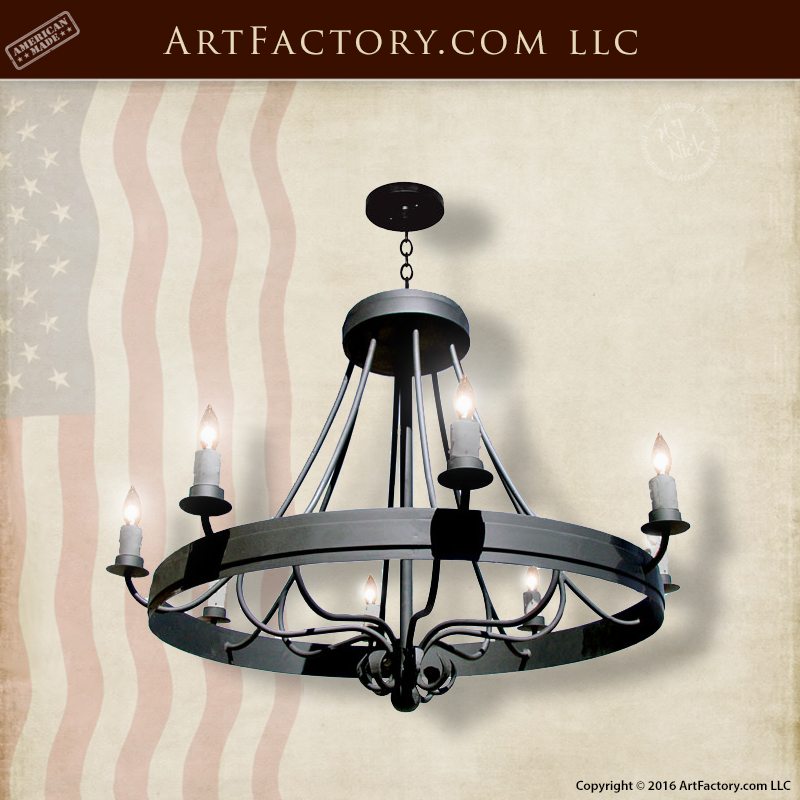 Antique French Design Iron Chandelier Hand Forged Wrought Lc509a
