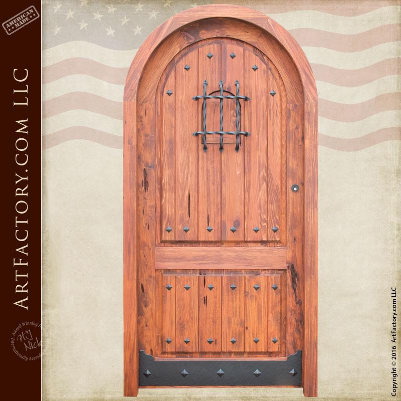solid cedar speakeasy door