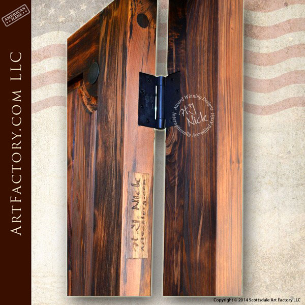 Custom Cowboy Door Includes Hand Forged Western Hardware