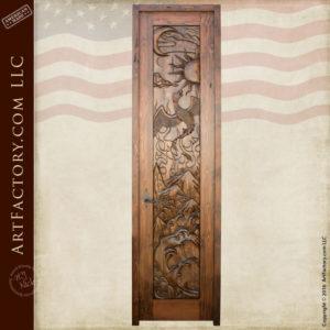 hand carved entrance door