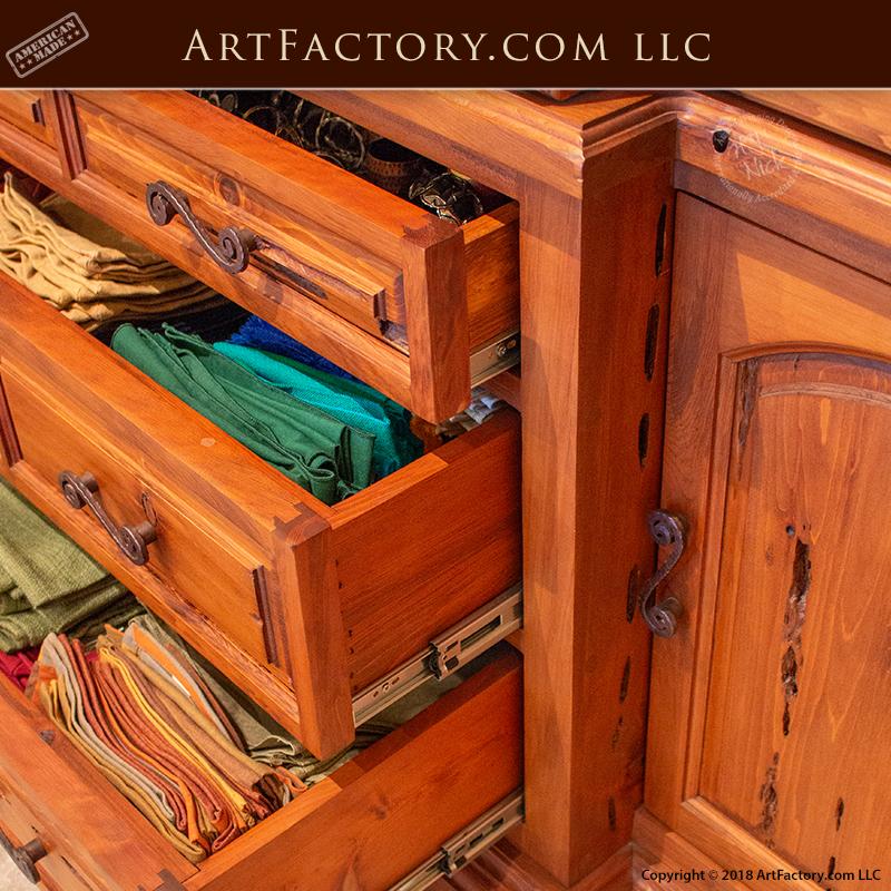 Exotic Kitchen Cabinets: Custom Exotic Wood China Cabinet: European Style Design