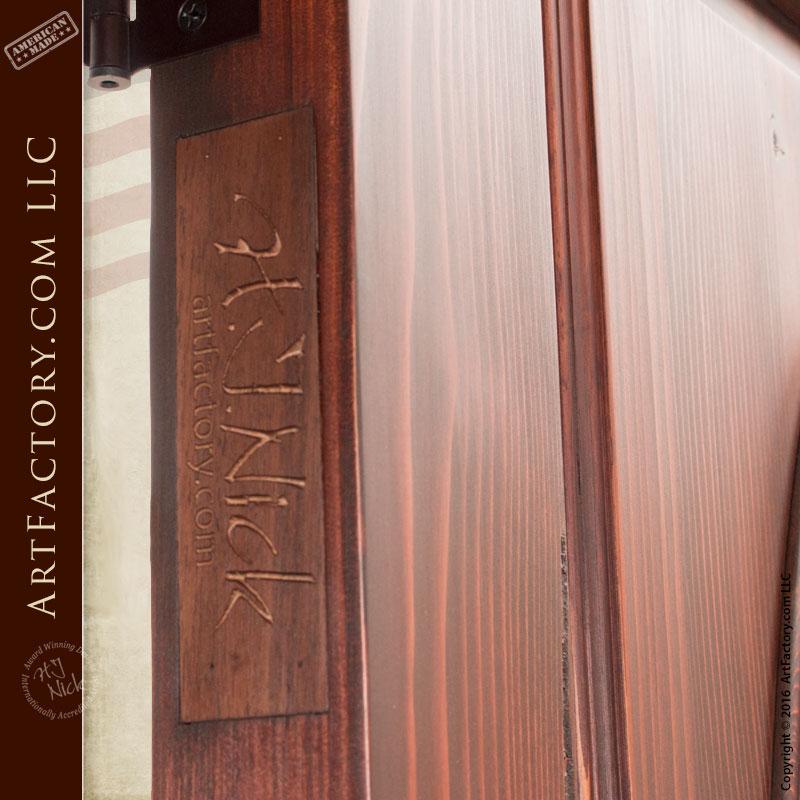 Oval Window Custom Wooden Door Sidelights Scottsdale