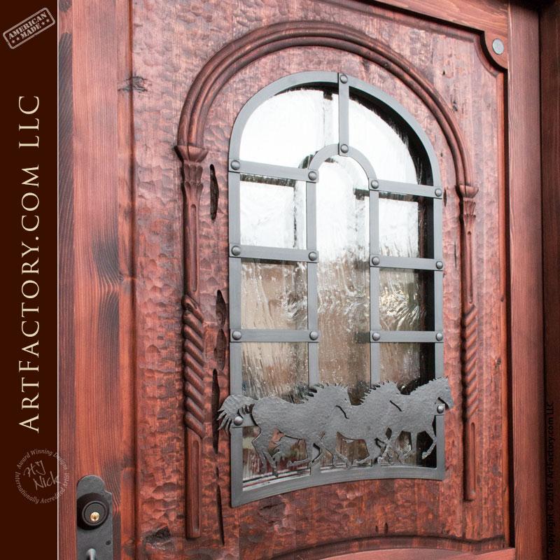 Custom Wooden Door Sidelights Amp Transom Wild Stallion