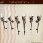 Custom Medieval Wall Torch Sconce