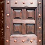 divided panel wooden double doors
