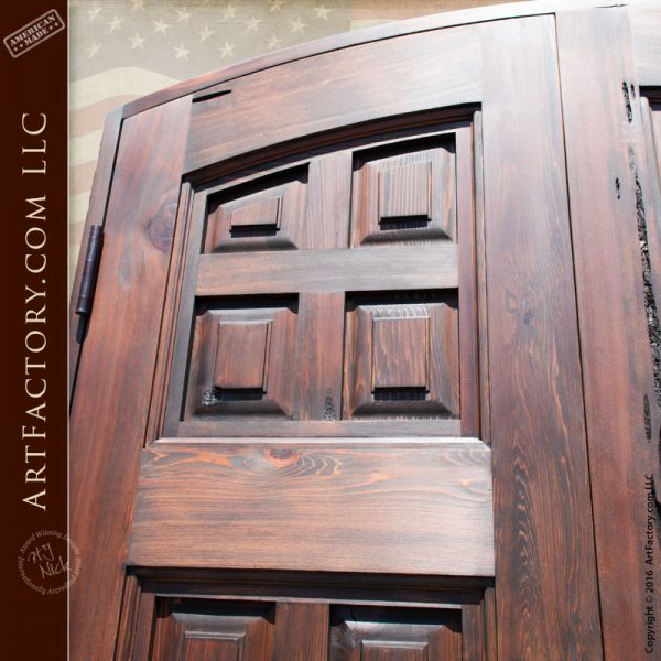 Custom wooden door siena divided panel scottsdale art for 15 panel solid wood door