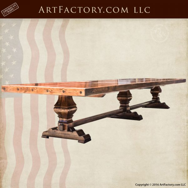Tuscan Aristocrat Custom Dining Table - Solid Wood