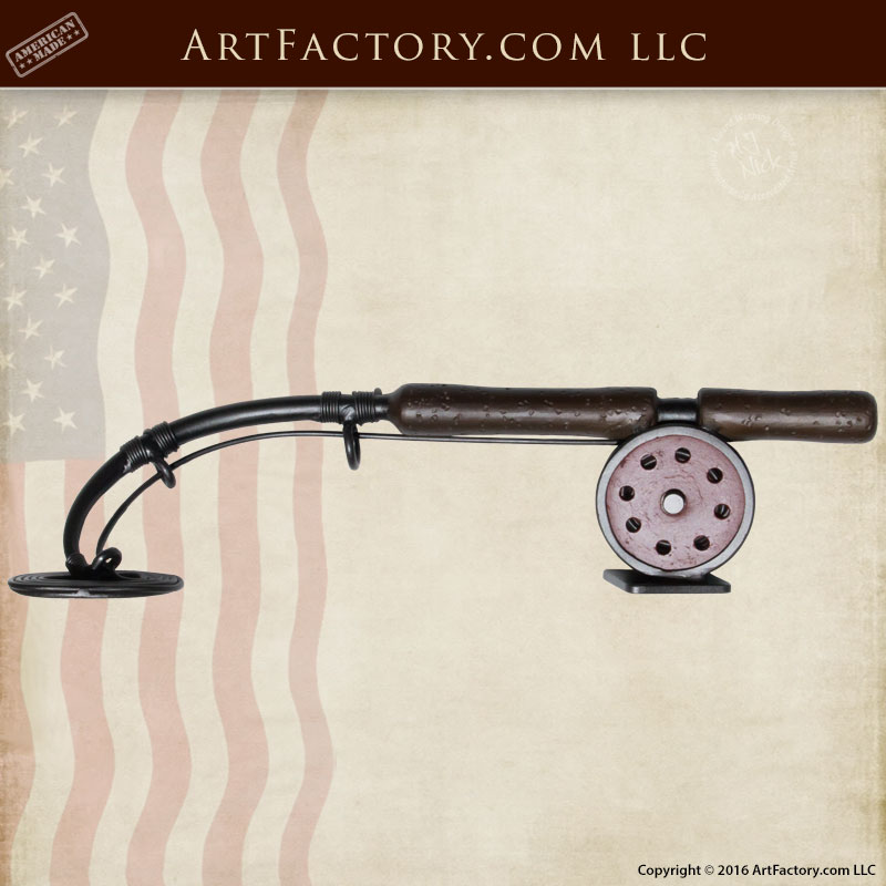 Fly Fishing Custom Door Handle Solid Hand Forged Iron