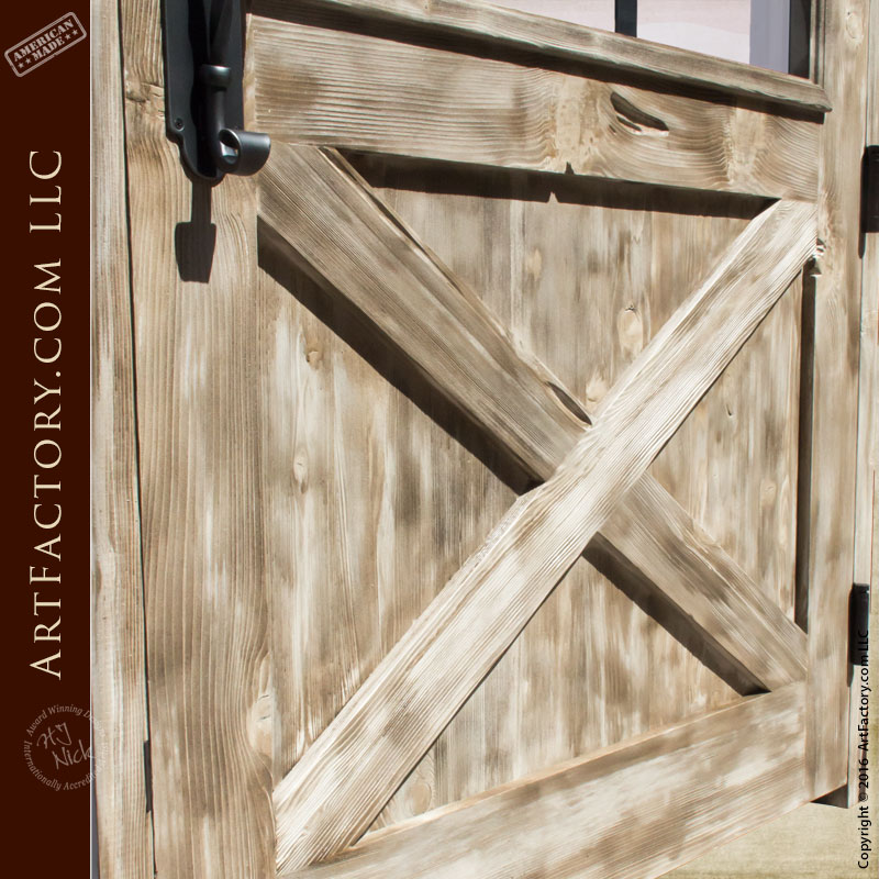 Custom Exterior Door Arched Door Crossbuck Panel