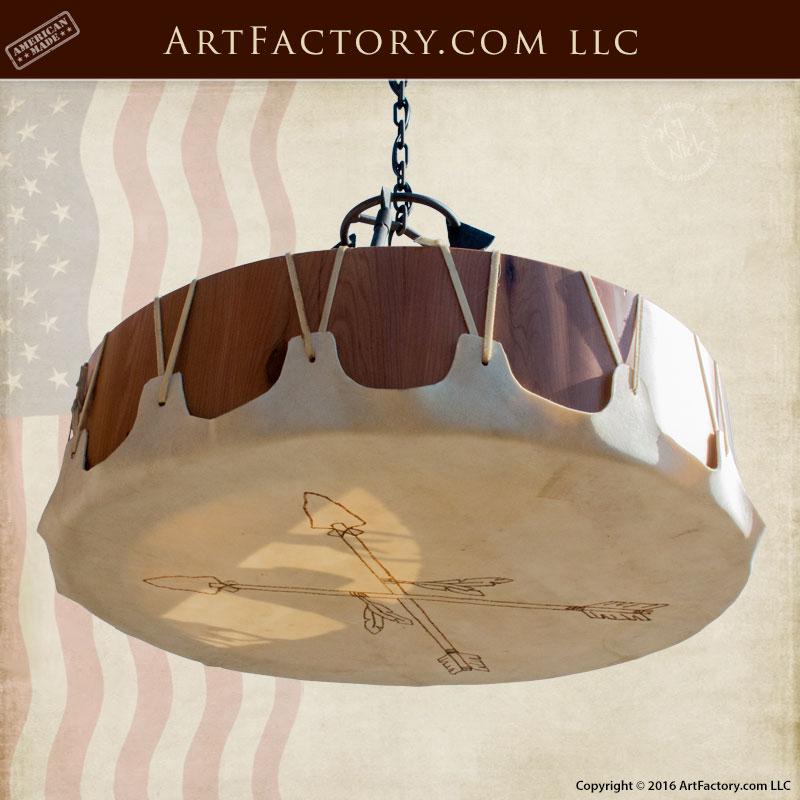 custom arrowhead drum chandelier