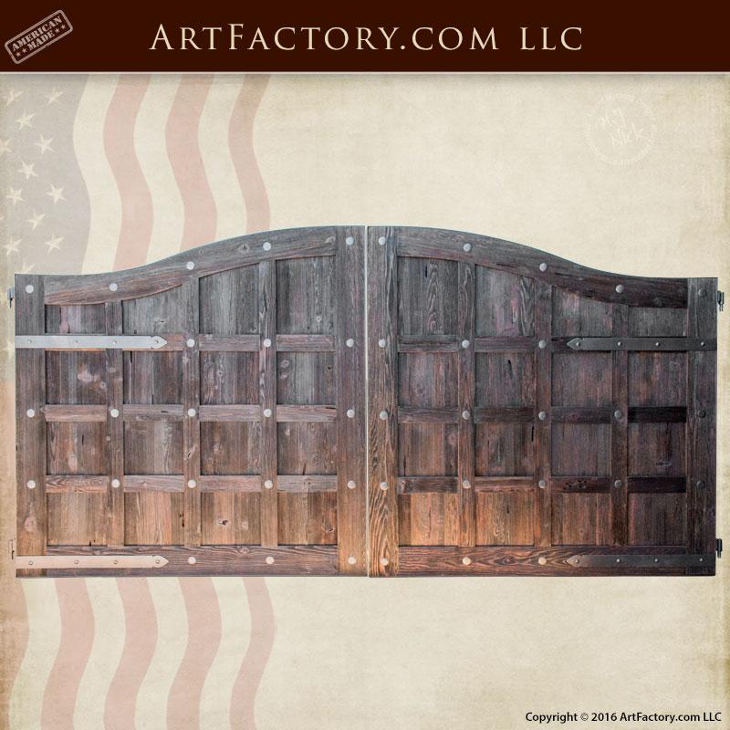 Custom Wood Iron Gates Solid Wood Gates Wrought Iron Gates