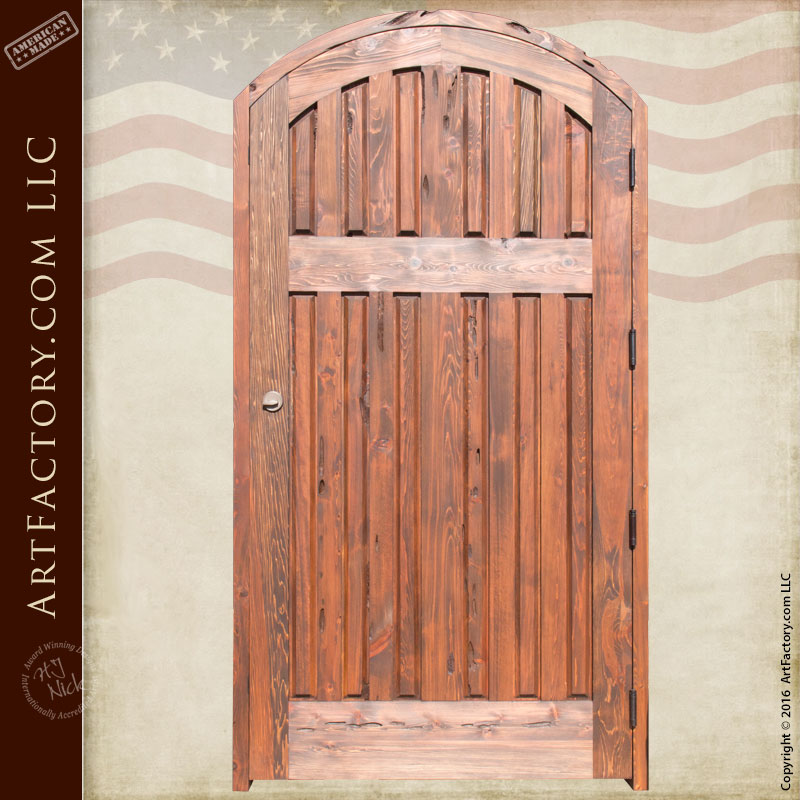 Solid Wood Door Multilevel Plank Door Scottsdale Art