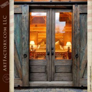 barn style custom wood door