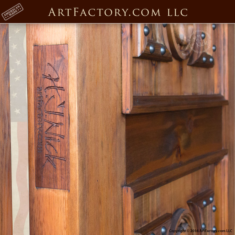 Custom Four Panel Clover Medieval Door