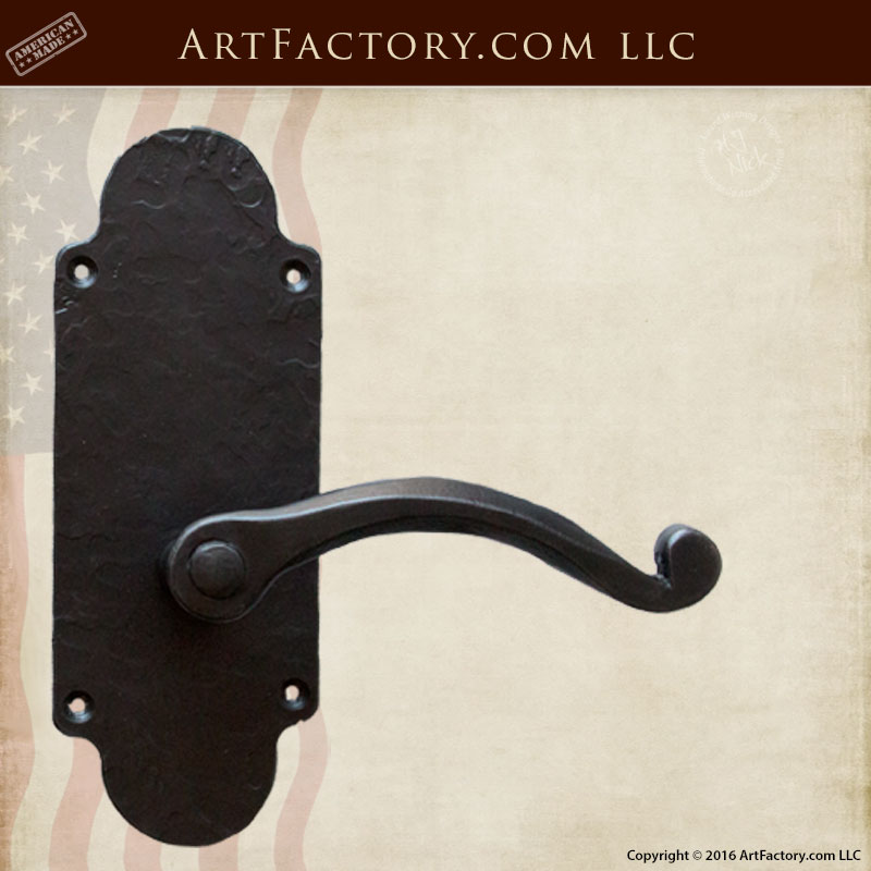 Luxurious Lever Custom Door Handles Solid Hand Forged Iron