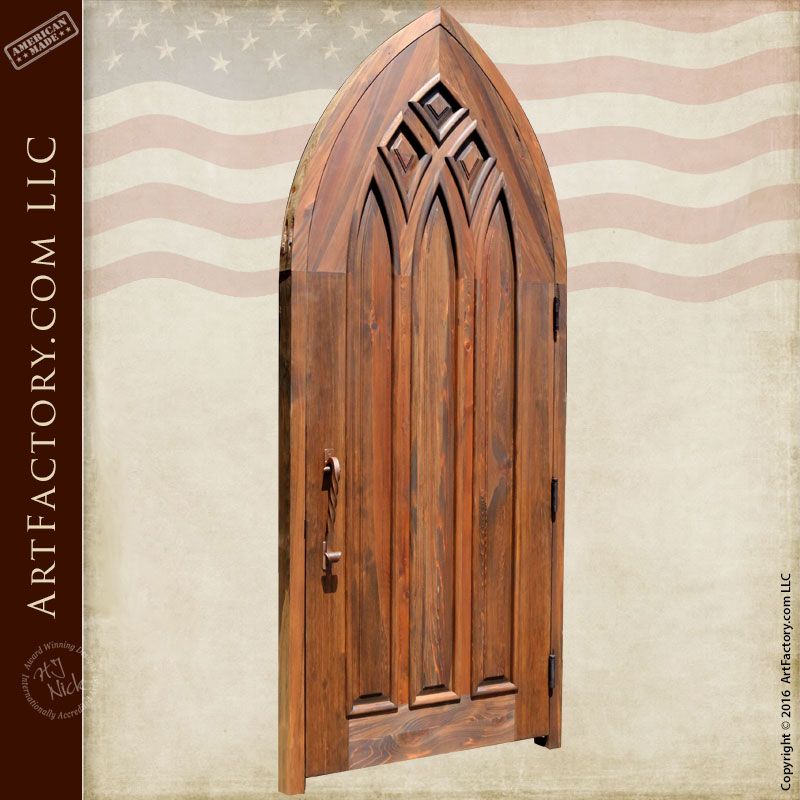 gothic style cathedral arched door