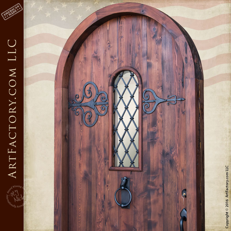 Custom Fortress Door With Window Grill And Decorative